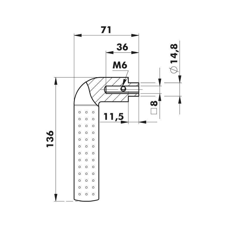 Door handle Eventus rosette fitting - 2