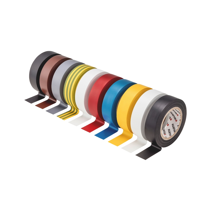 Electrical insulating tape set - INSUTPE-EL-SORT-(SORTED-BY-COLOR)-10PCS