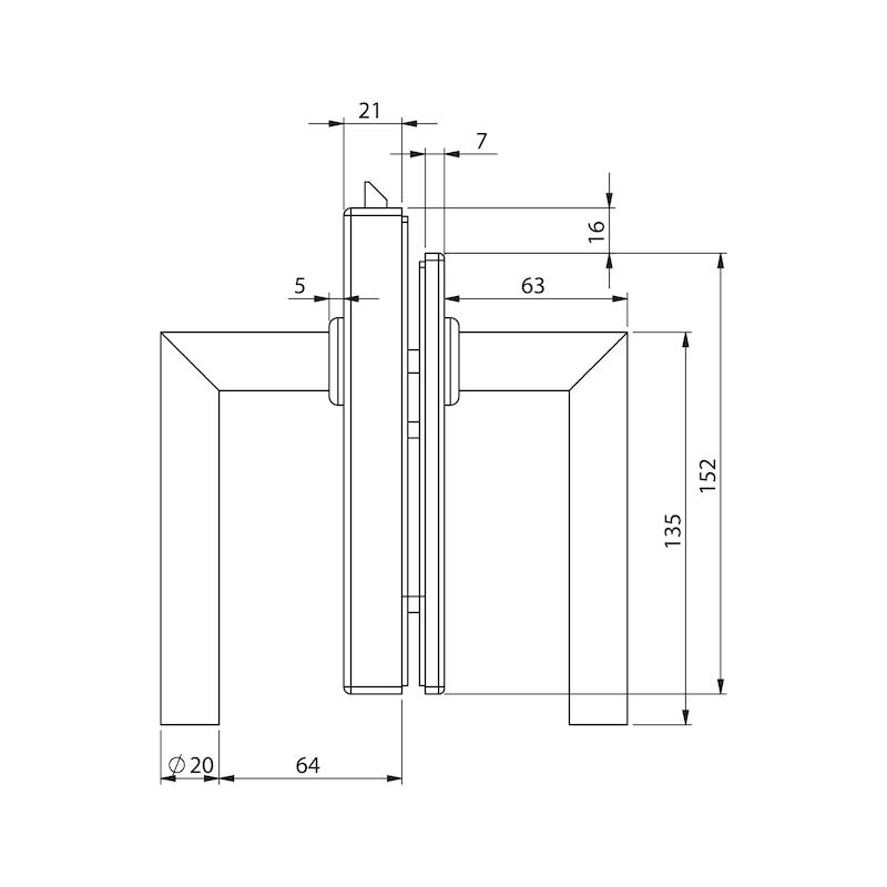 Glastür-Set Standard Form B - 3