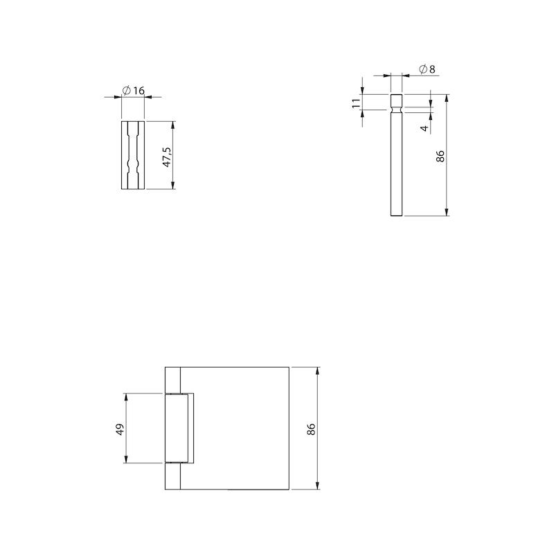 Standflügel-Set Form B lang - 6