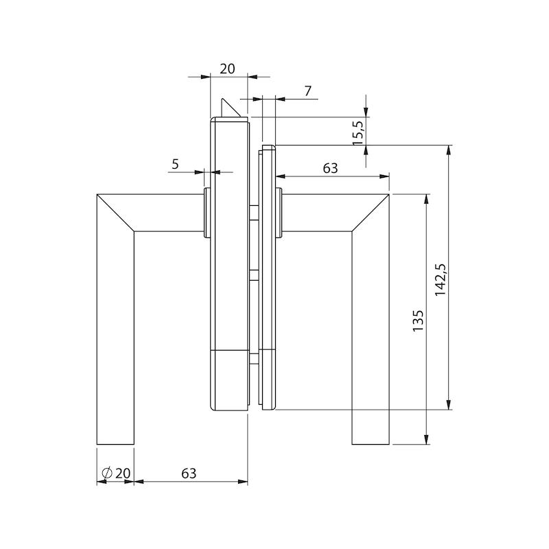 Glastür-Set Premium Form A - 5