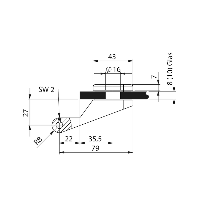 Standflügel-Set Form A kurz - 0