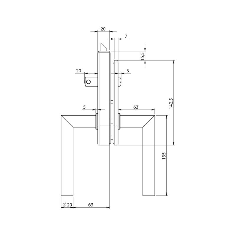 Glastür-Set Premium Form A - 6
