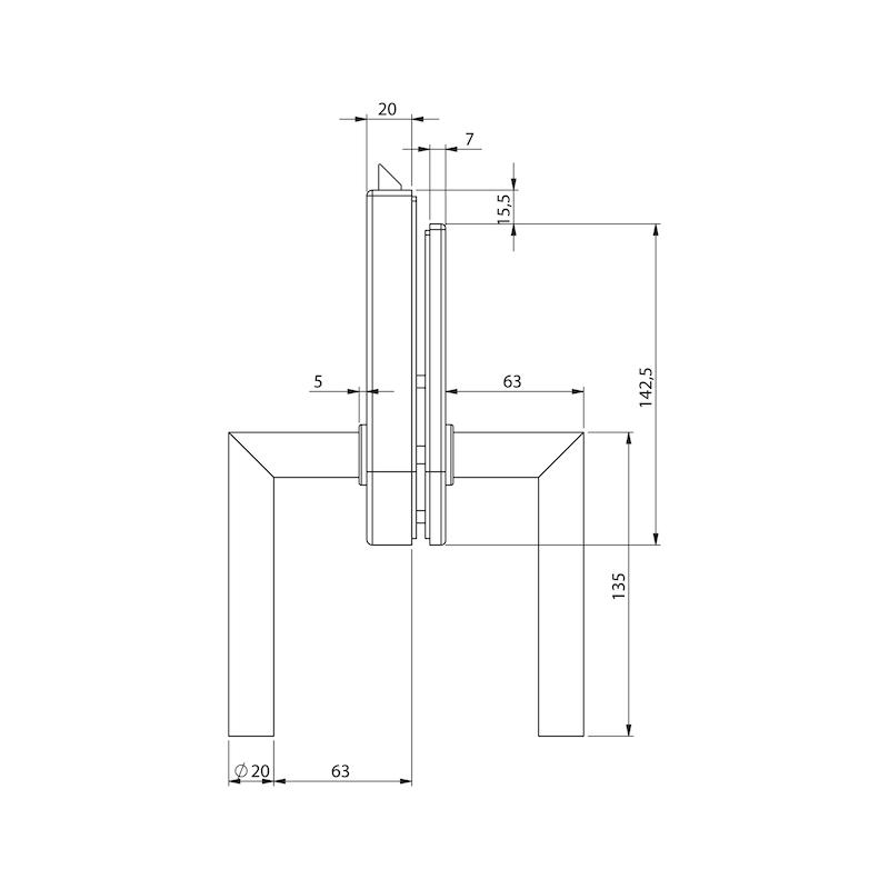 Glastür-Set Premium Form A - 7