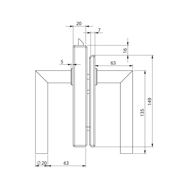 Glastür-Set Premium Form B - 5