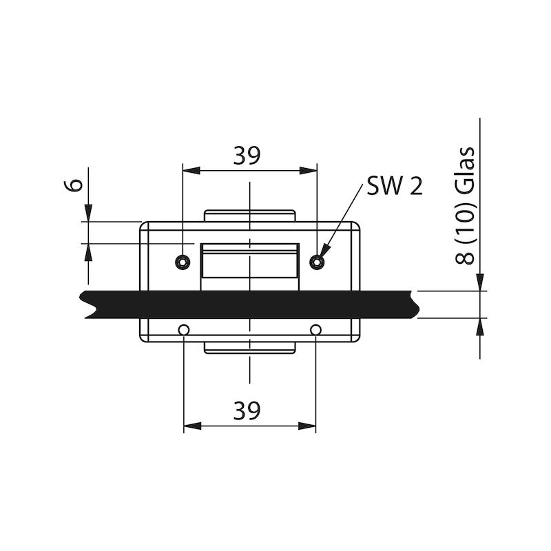 Glastür-Set Premium Form B - 8