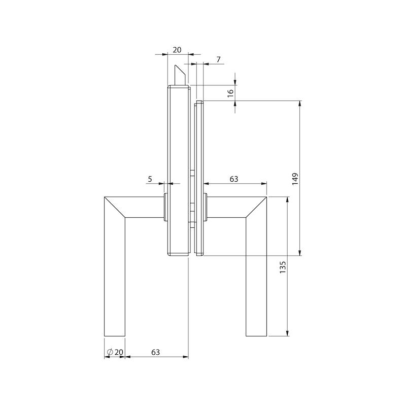 Glastür-Set Premium Form B - 7