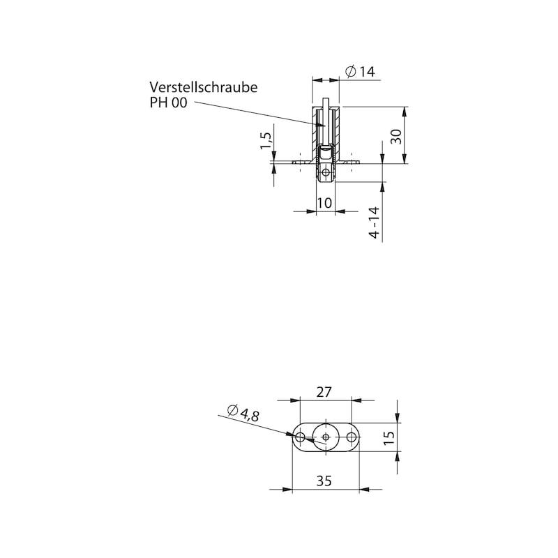 Standflügel-Set Form A kurz - 2