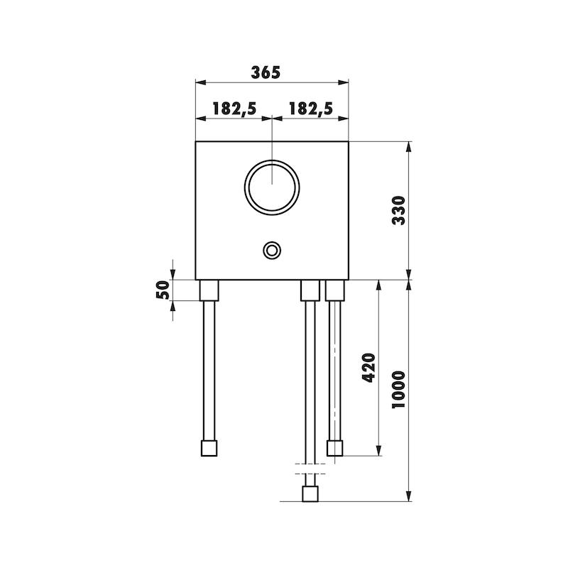 Installationsbox Badewanne Unterputzmischer Mauerwerk - 1