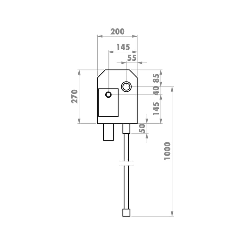 Installationsbox Waschmaschinenanschluss Mauerwerk - 3