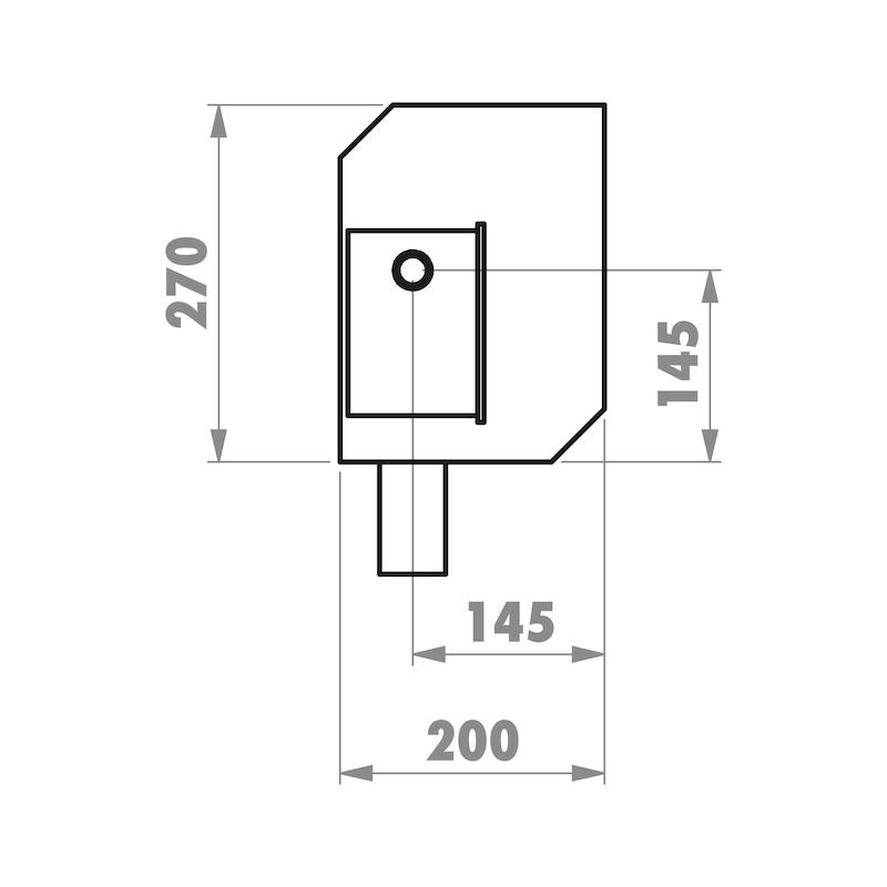 Installationsbox Waschmaschinenanschluss Mauerwerk - 4