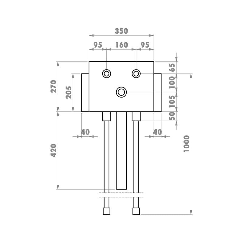 Installationsbox Küchenspüle Trockenbau - 2