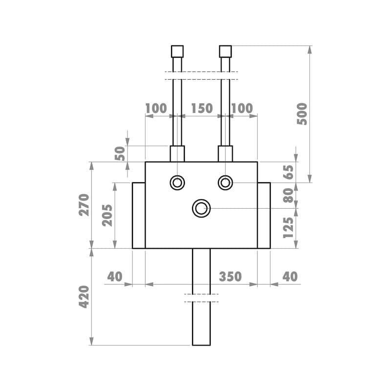 Installationsbox Standardwaschtisch Trockenbau - 2