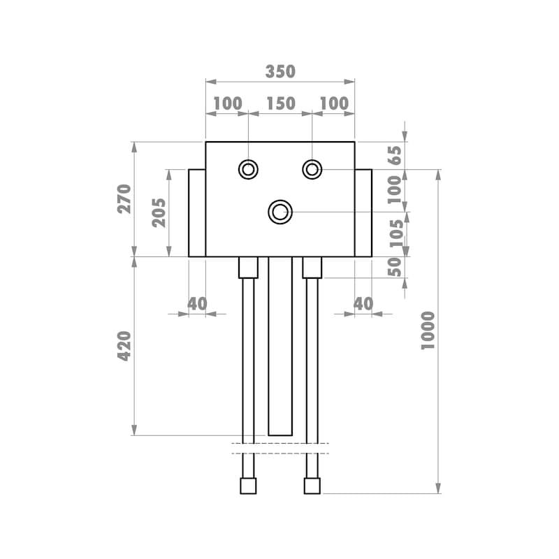 Installationsbox Standardwaschtisch Trockenbau - 3