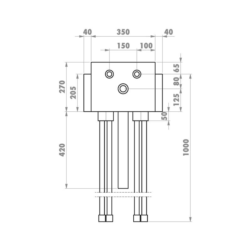 Installationsbox Standardwaschtisch Trockenbau - 4