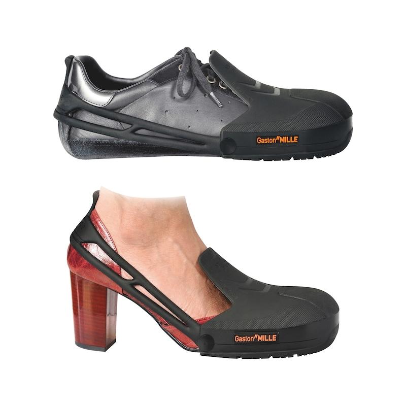 Overshoe with steel protective toe caps, 5-pack - OVERSHOE TOE CAP 5 PACK SET BLACK
