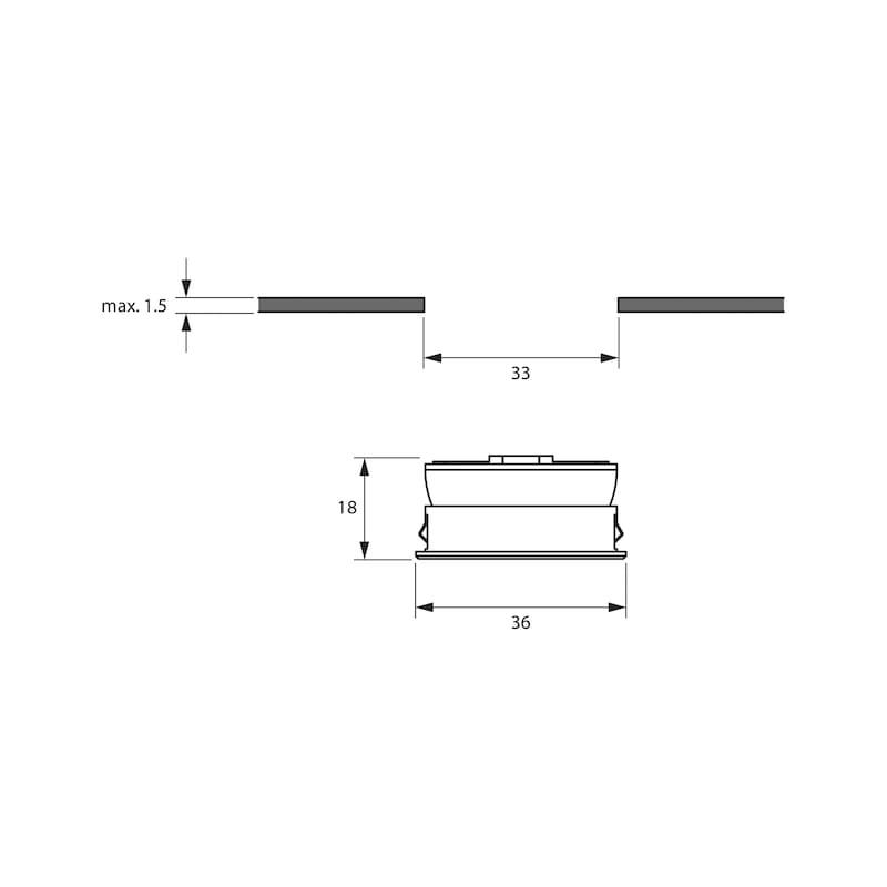 LED-Einbauleuchte EBL-12-8 zum Einlassen - 2