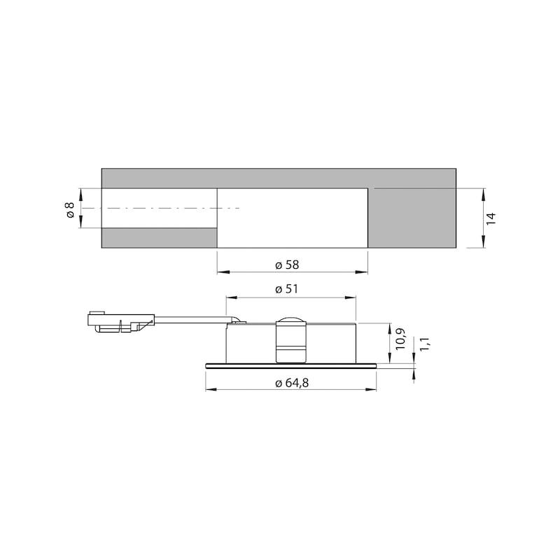 LED-Einbauleuchte EBL-12-12 - 2