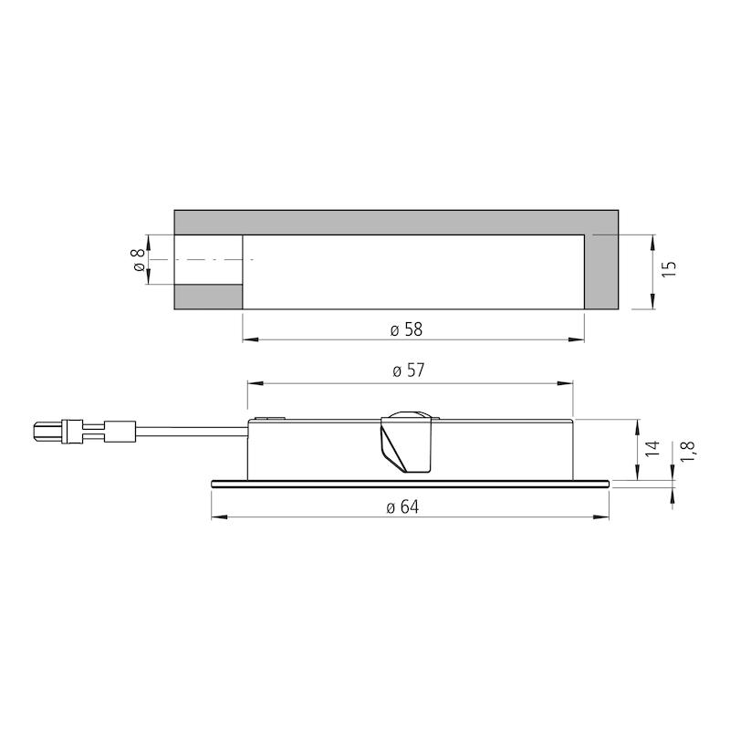 Power-LED Einbauleuchte Glas - 3