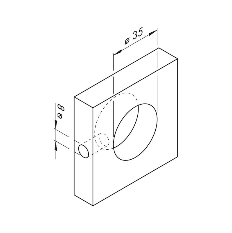 USB-Doppelsteckdose 12V aus Kunststoff im rechteckigen Design - 4