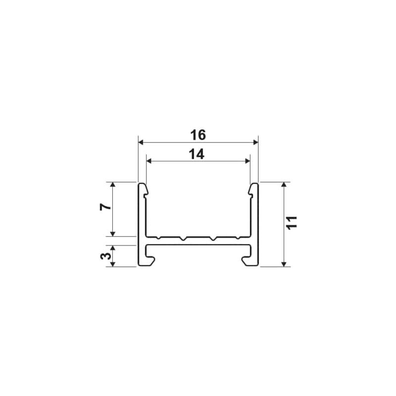 LED-Ein-/Unterbauprofil EUBP-1  - 2