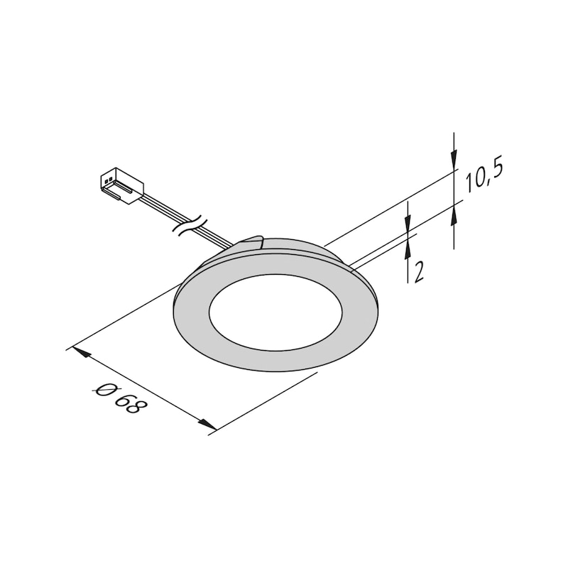 LED-Einbauleuchte EBL-24-9 - 2
