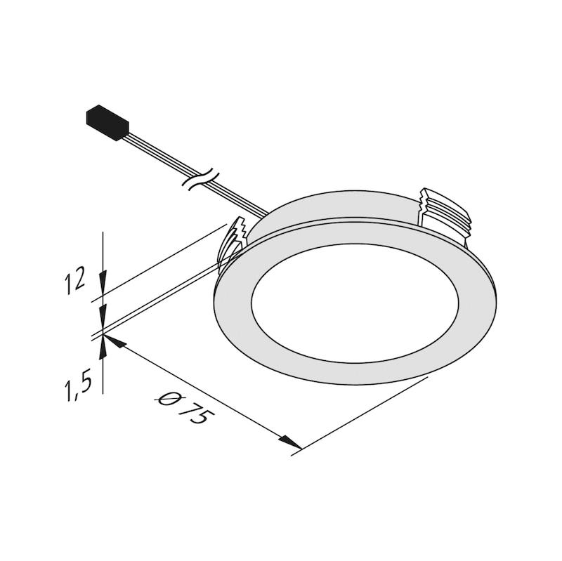 LED-Einbauleuchte EBL-24-13 zum Einlassen - 2
