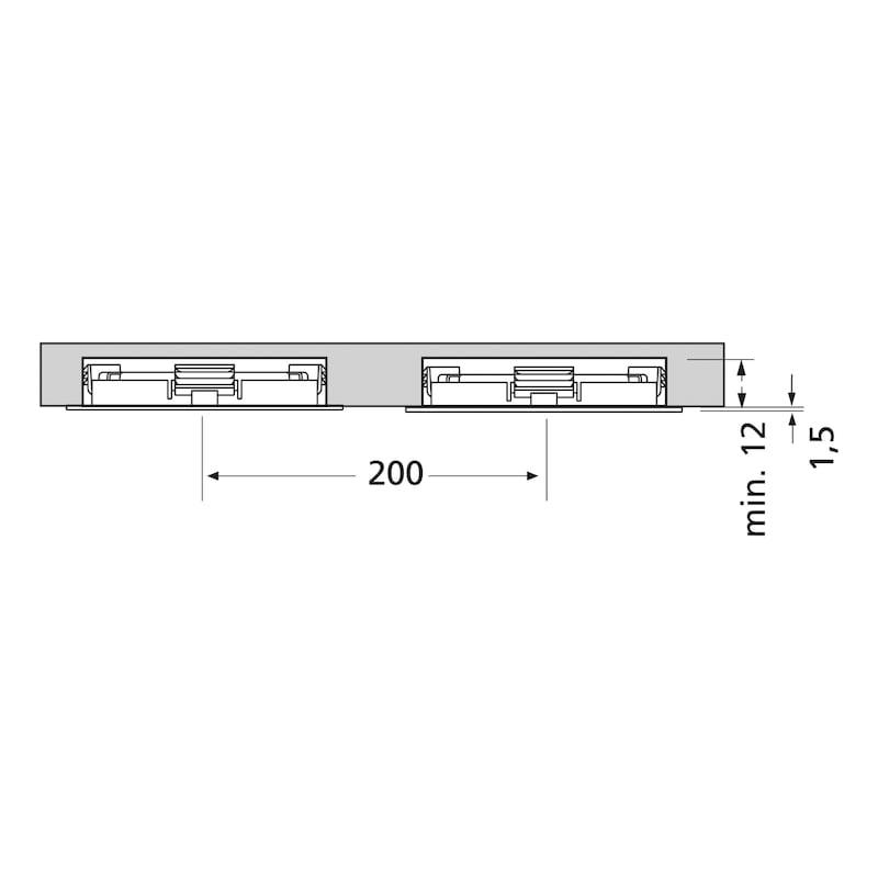 LED-Einbauleuchte EBL-24-13 zum Einlassen - 4