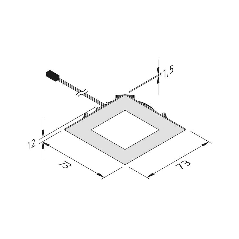 LED-Einbauleuchte EBL-24-14 Set - 2