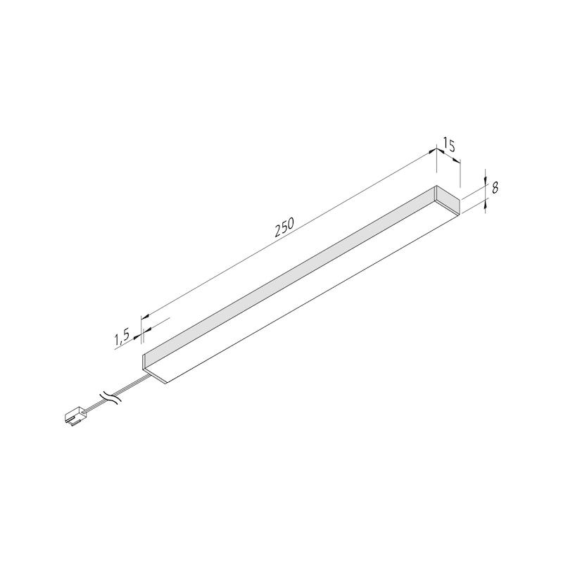 LED-Unterbauleuchte UBL-24-3-D-Set zum Anschrauben - 2