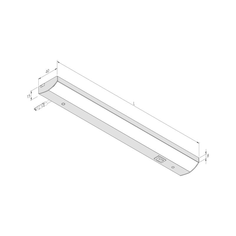 LED-Unterbauleuchte UBL-230-2 zum Anschrauben, mit Schalter - 2