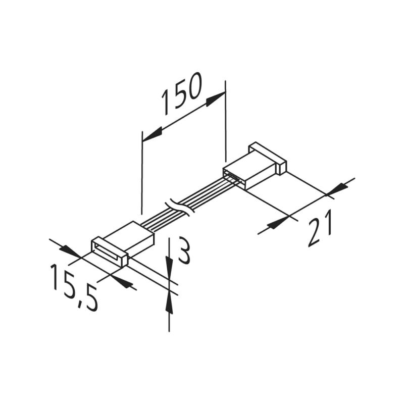 Verbindungsleitung zu FLB-24-6 RGBW  - 0