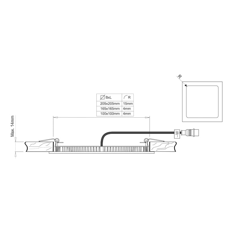 LED built-in light - LGHT-LED-BATH-IP44-ALU-LD2-CW
