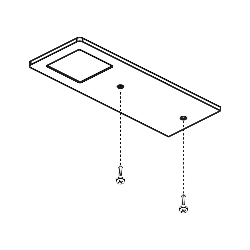 LED-Unterbauleuchte UBL-24-4 Set - LEUCHT-SET-LED-(UBL-24-4)-NW-ALUF-3TLG