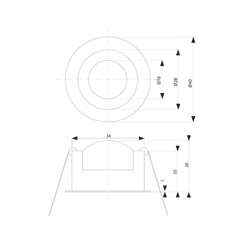 LED-Einbauleuchte EBL-350-2 Set - 2