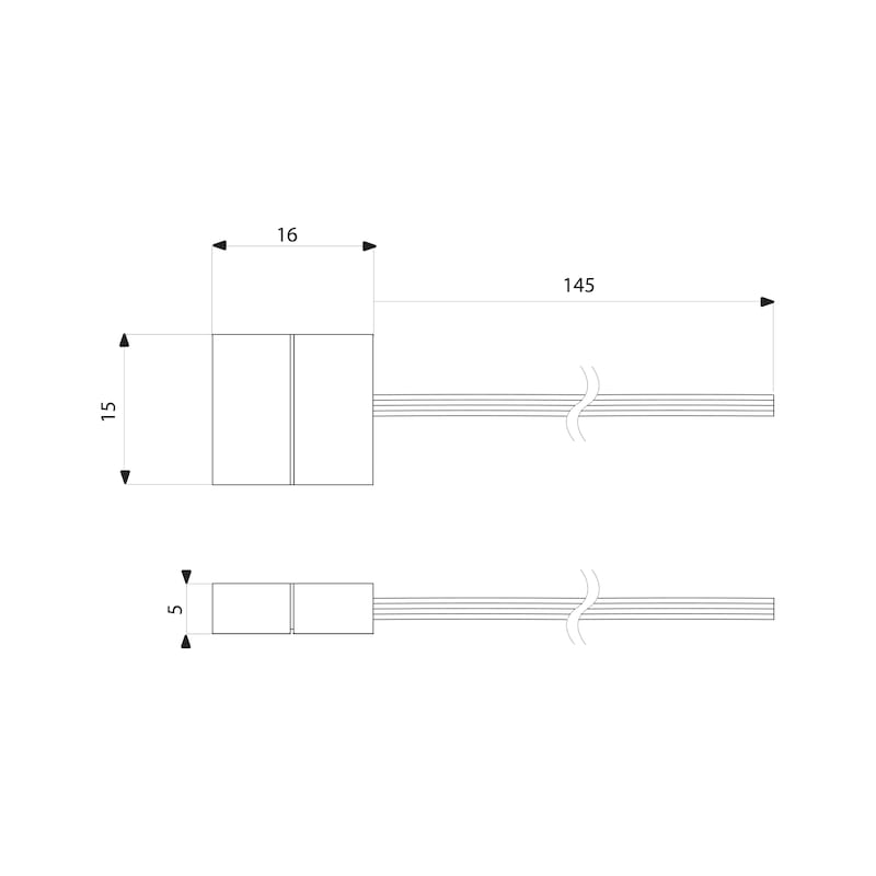 Anschlussleitung-Set zu FLB-24-5-RGB - 2
