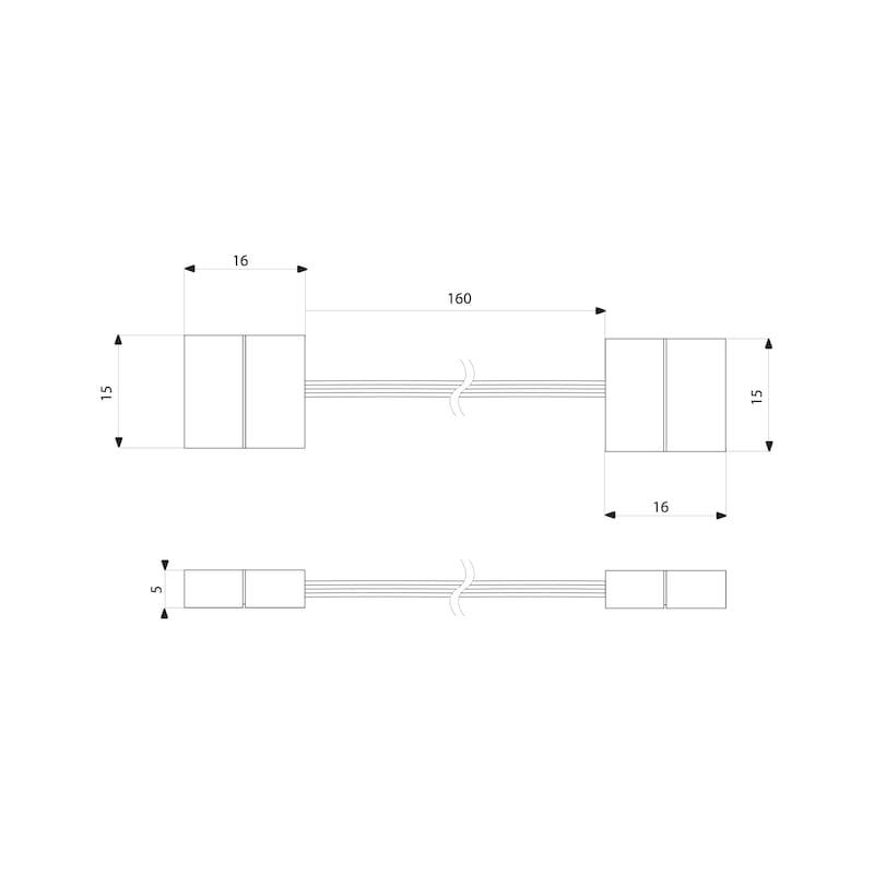 Verbindungsclip/-leitungs-Set flexibel zu FLB-24-8  - 2