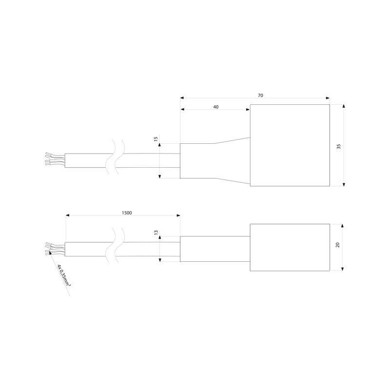 Anschlussleitung-Set zu FLB-24-11 RGB - 0