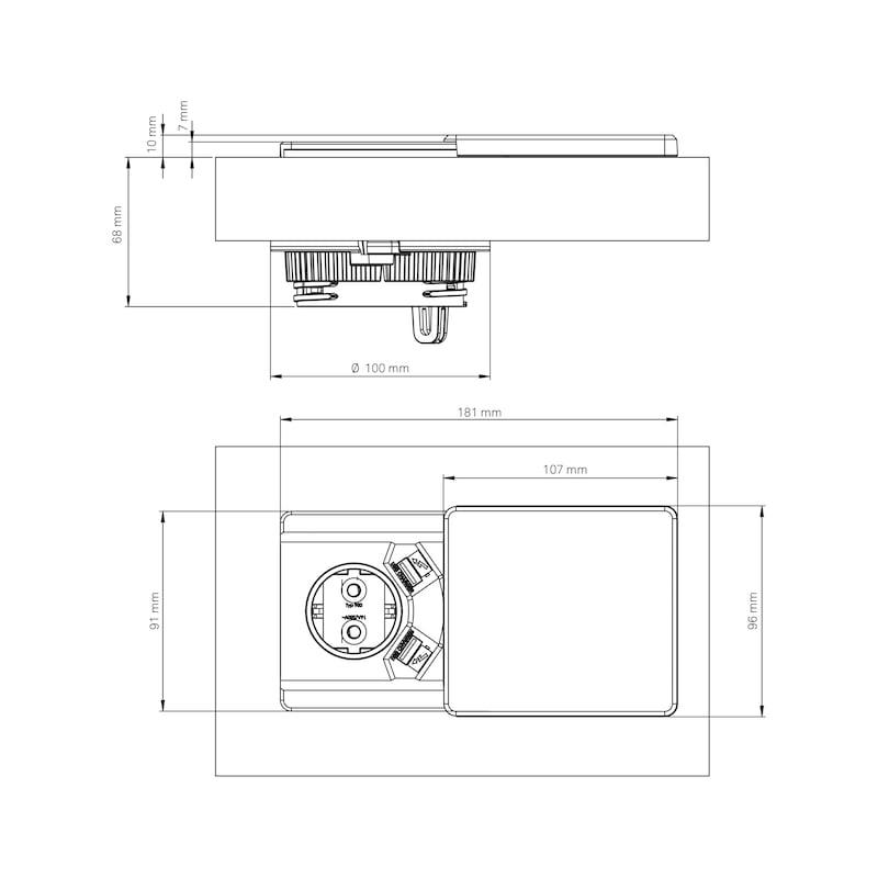 Einbausteckdose EST-1 - 2