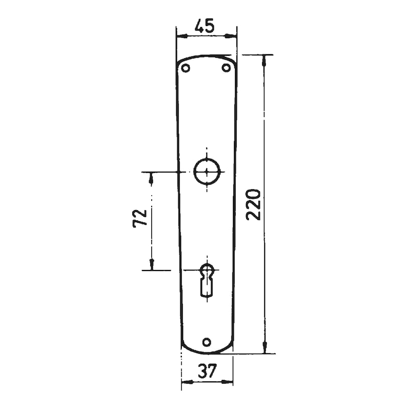 Langschildpaar AL 10 - TD-ALU-AL10-LANGSHLD-BB-F2/NEUSILBER