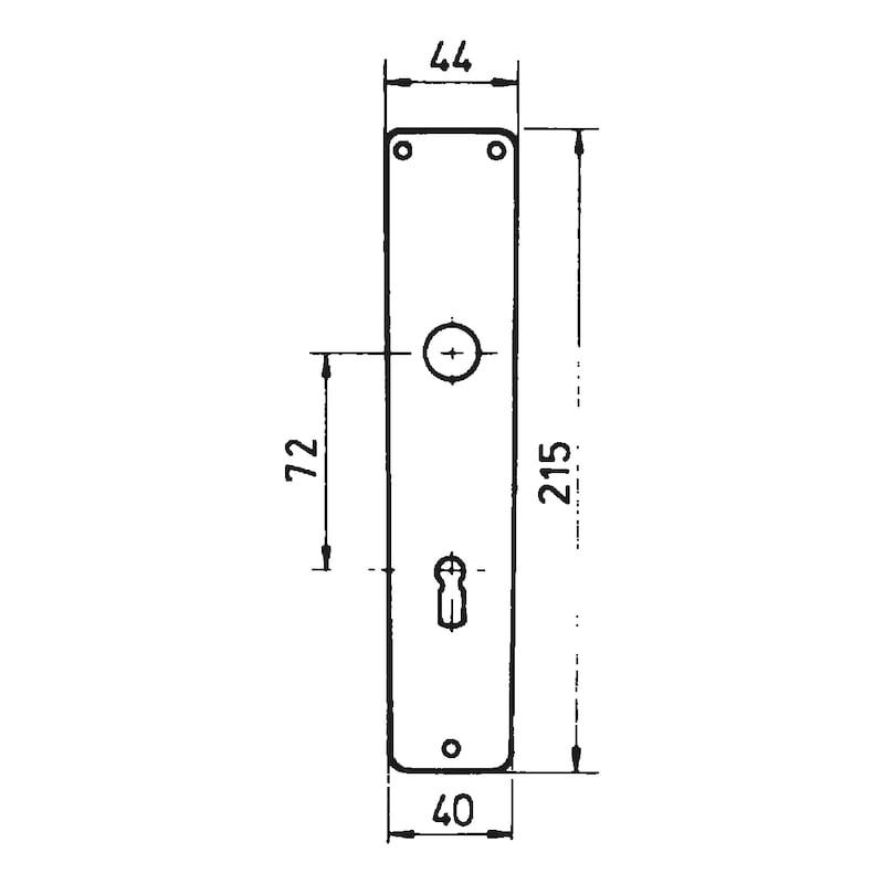 Pár dlh. štítkov s otvorom BB AL11 - KLUCKA DVER.ALU AL11 BB F2/STRIEBORNA
