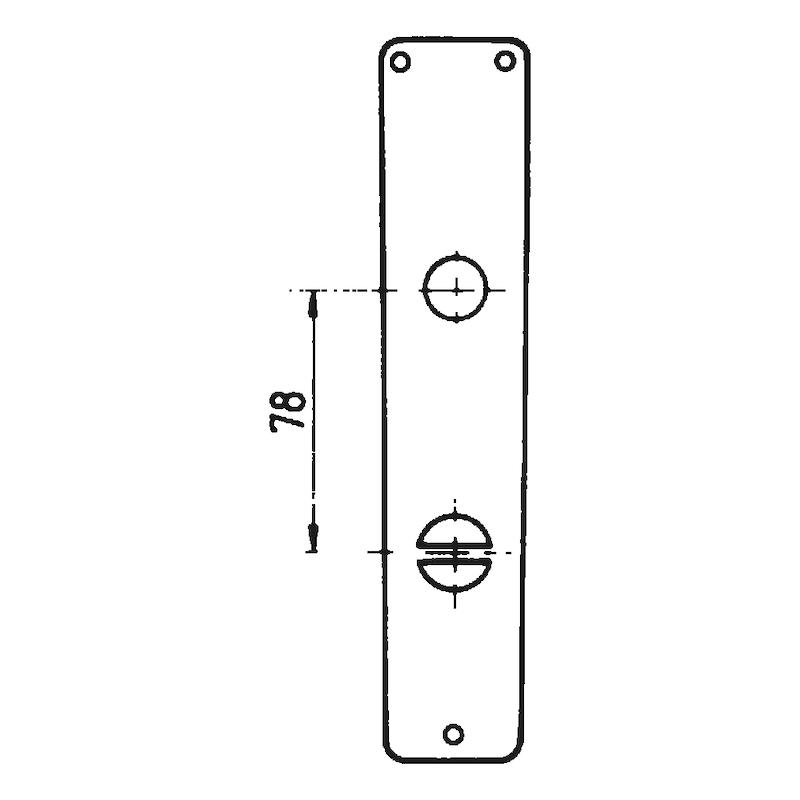 Langschildpaar AL 11 - TD-ALU-AL11-LANGSHLD-WC-F2/NEUSILBER