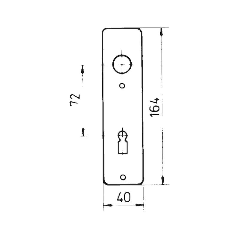 Kurzschildpaar AL 20 - TD-ALU-AL20-KURZSHLD-BB-F2/NEUSILBER