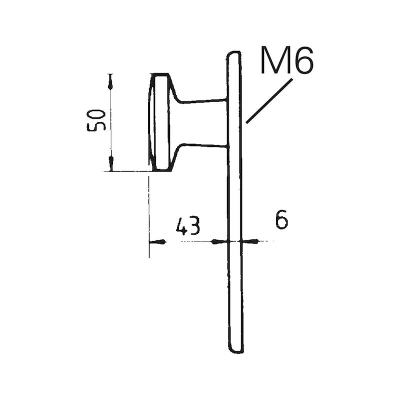 Wechselgarnitur PZ AL 100/AL 20 - TD-ALU-AL100/20-WE-KURZSHLD-L/R-F1/SILBE