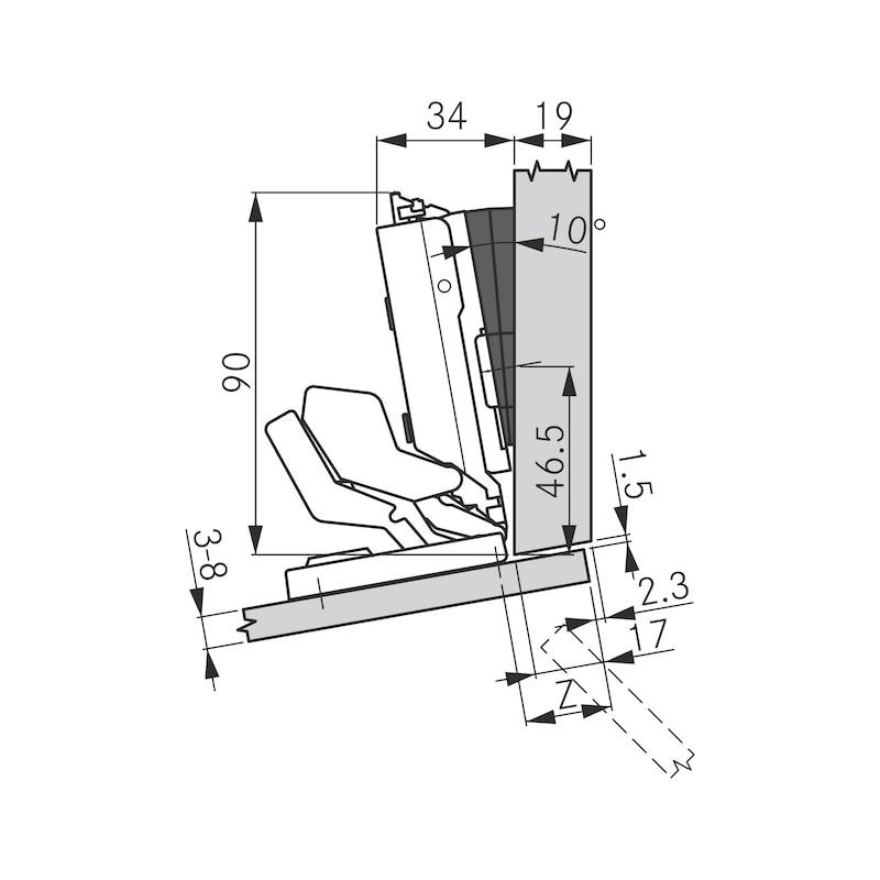 Spiegel- und Glastürscharnier TIOMOS Mirro 125 - 8
