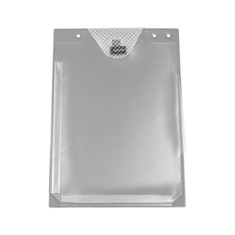 Auftragsschutztasche mit Klettverschluss und Falz - SHTZTASH-FUER-AUFTRG-KLETT-FALZ-GRAU