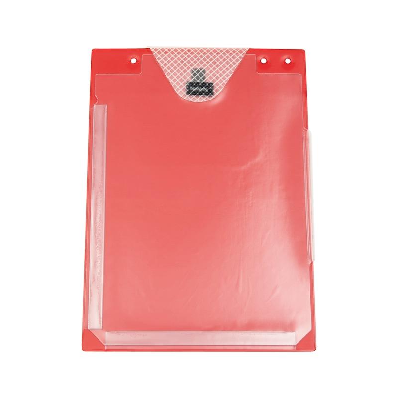 Auftragsschutztasche mit Klettverschluss und Falz - SHTZTASH-FUER-AUFTRG-KLETT-FALZ-ROT