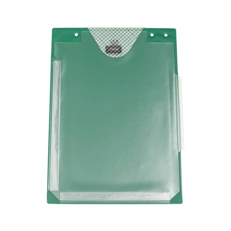 Auftragsschutztasche mit Klettverschluss und Falz - SHTZTASH-FUER-AUFTRG-KLETT-FALZ-GRUEN