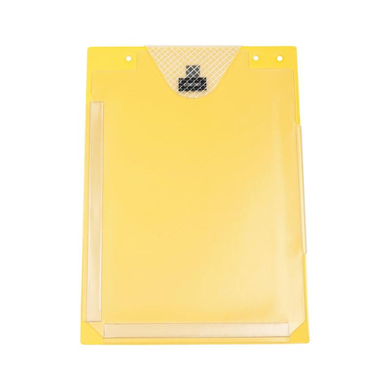 Auftragsschutztasche mit Klettverschluss und Falz - SHTZTASH-FUER-AUFTRG-KLETT-FALZ-GELB