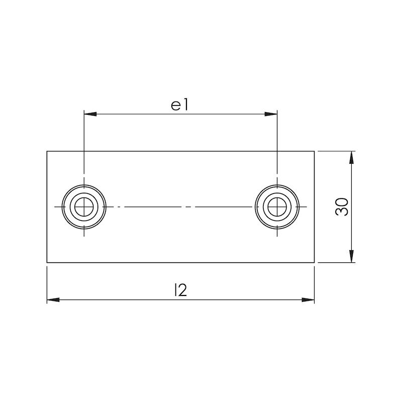 Schweißplatte Premium Teil 1 - kurze Ausführung Typ SP - SHWSPL-DIN3015-1-SP-W2-GR2